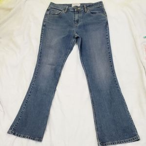 Levi's stretch low-rise bootcut denim jeans size 8
